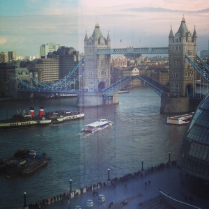 Tower Bridge opening as the view from the office