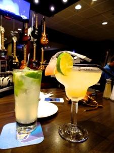 Cocktails…making sure we enjoyed the flight