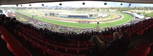 Melbourne Cup - view from the Chairman's suite