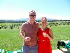 Sipping champagne (technically not but exactly the same) at Chandon