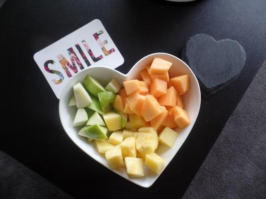 Healthy treats this week….helping us smile. Feeling healthy eating healthy