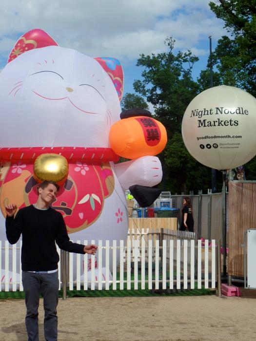 Noodle market entrance…happy like a cat
