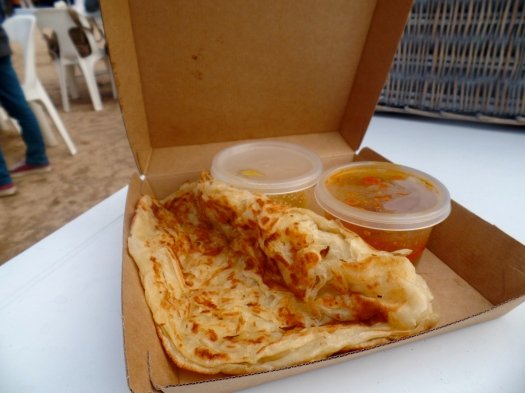 Roti bread and curry sauce