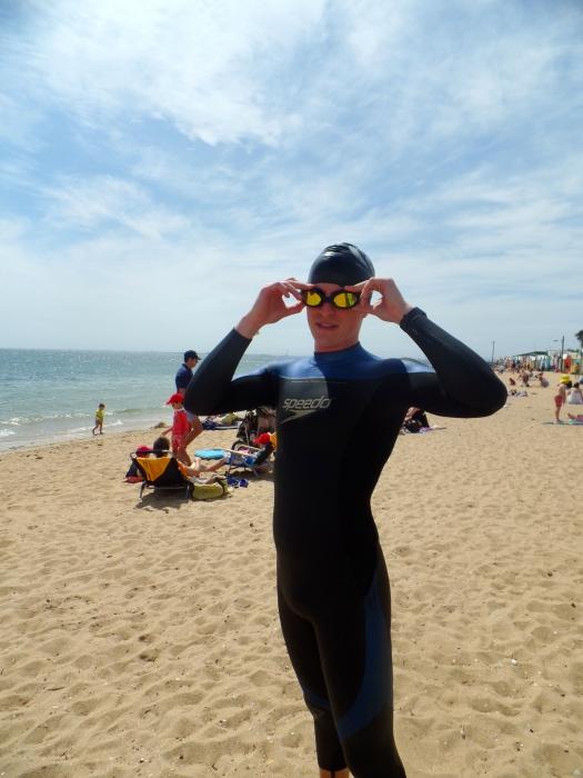 Pre swim excitement