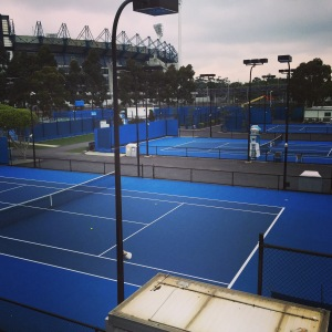 Australian open warm up courts