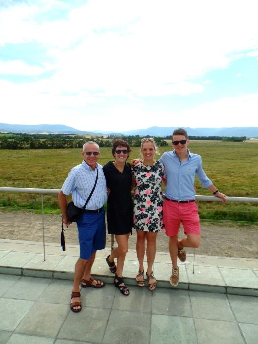 Overlooking the vineyards - pre wine