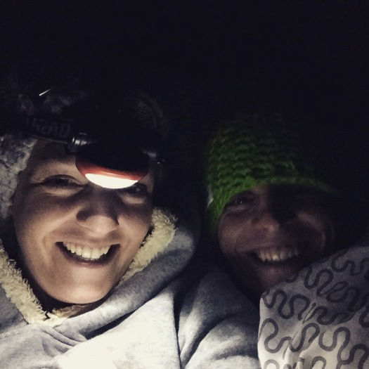 Unbelievably cold in our tent! With every item of clothing we brought with us